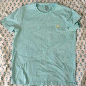 Men's Light Blue Polo Short Sleeve T-shirt